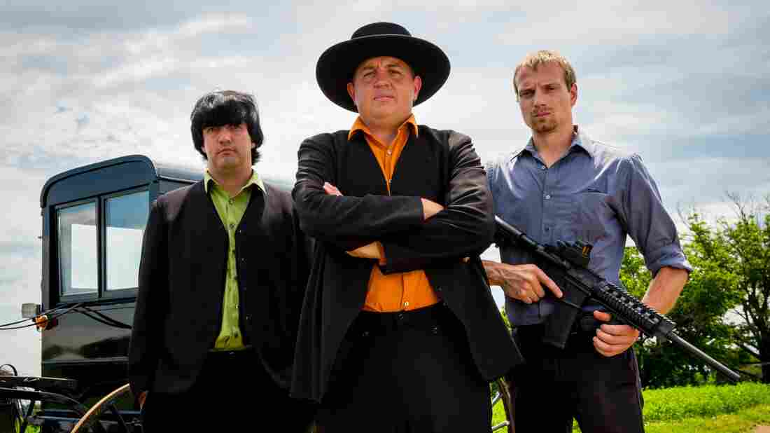 Lebanon Levi (center) is depicted as the ringleader in Discovery's Amish Mafia. Locals in Lancaster County, Pa., say the reality TV show and its spinoffs are offensive fabrications.