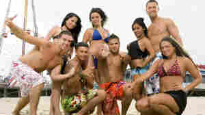 "MTV's Jersey Shore starred, from left, Vinny Guadagnino, Angelina Pivarnick, Paul ""DJ Pauly D"" DelVecchio, Jenni ""JWOWW"" Farley, Ronnie Magro, Nicole ""Snooki"" Polizzi, Mike ""The Situation"" Sorrentino and Sammi ""Sweetheart"" Giancola."