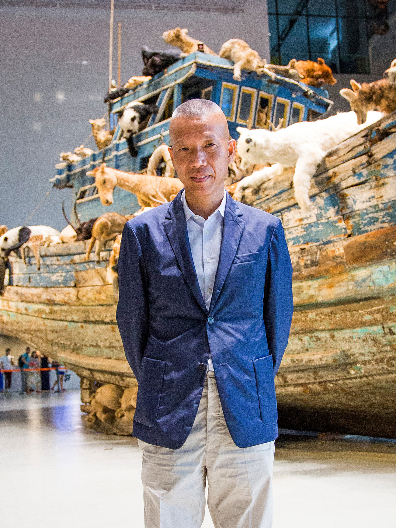 Artist Cai Guo-Qiang says much of his work is inspired by environmental conditions in China.