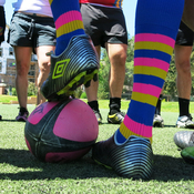 """The Colorado Rush, a gay rugby team in Denver, at practice. """"I've always thought of myself as ... the rugby player that happens to be gay,"""" says Skyler Meyer. """"I never want to be the gay man who happens to play rugby."""""""