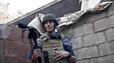 Journalist James Foley while covering the civil war in Aleppo, Syria, November 2012.