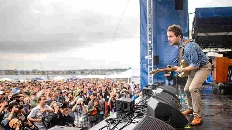 You're looking at Taylor Goldsmith of Dawes. But about 50 feet in front of him is a dude who will not shut up.