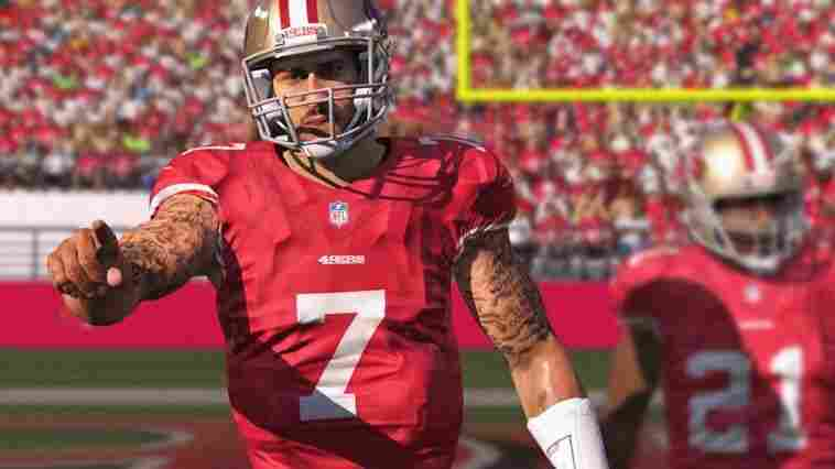 San Francisco 49ers quarterback Colin Kaepernick is the only player in the newest edition of the Madden NFL video game franchise to have his signature tattoos faithfully rendered in the game.