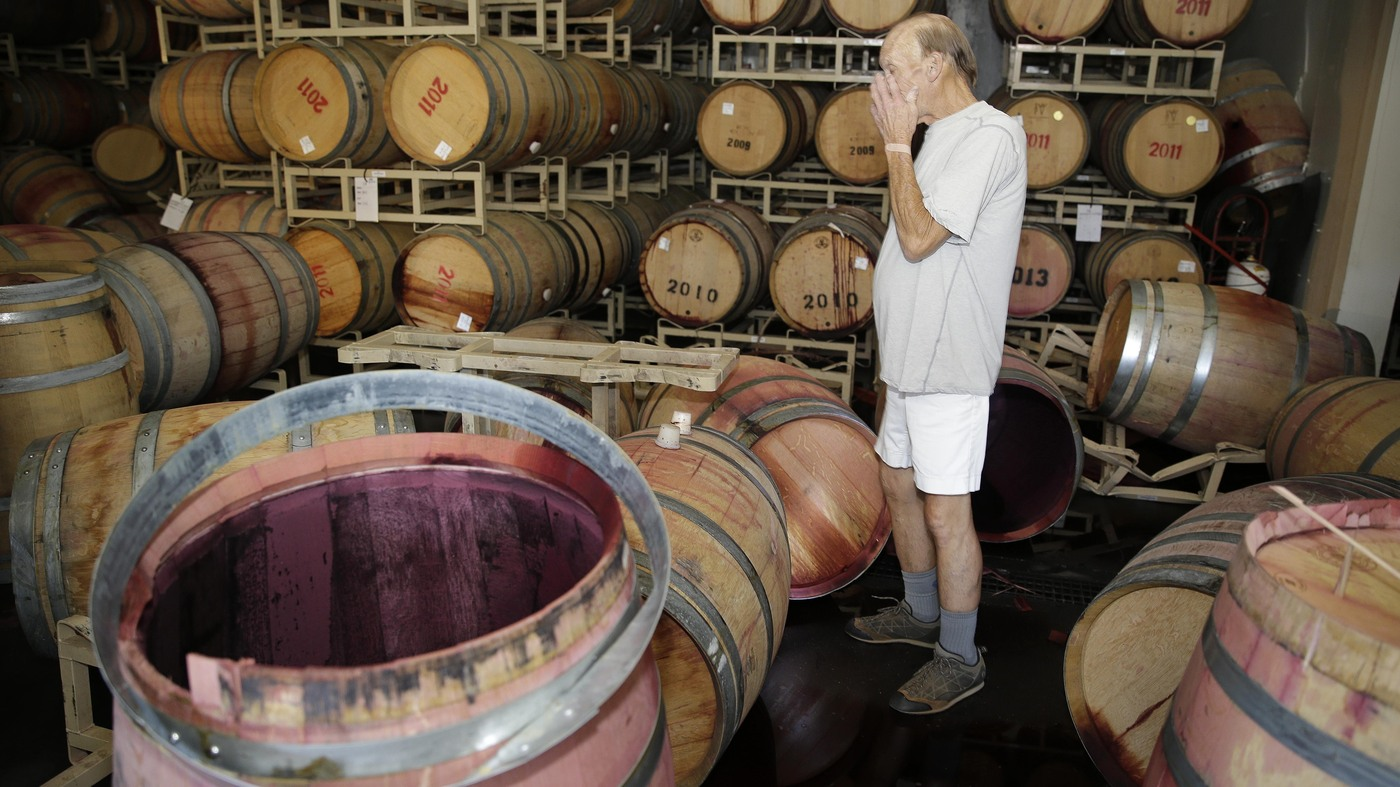 California Quake Means Big Damage For Napa Valley Wineries : The ...