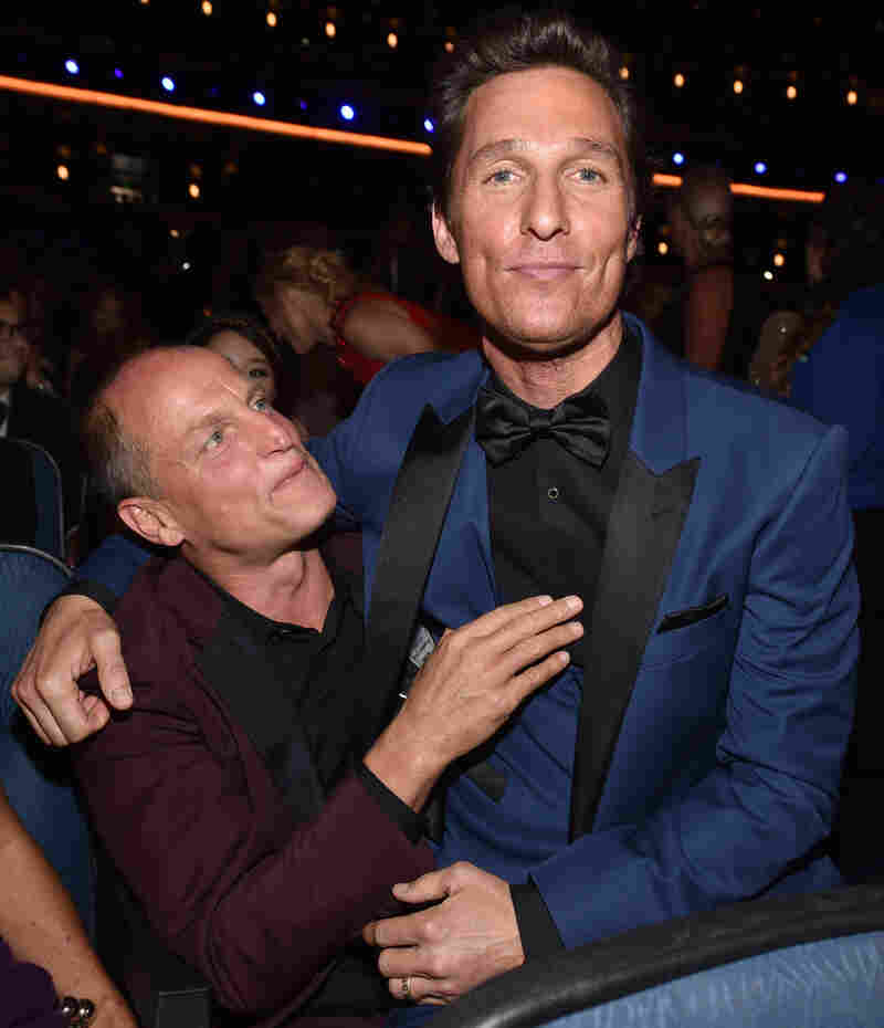 Woody Harrelson (left) and Matthew McConaughey of True Detective, a crime thriller with 12 nominations.