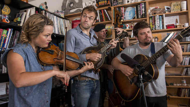 Tiny Desk Concert with Nickel Creek on August 13, 2014.