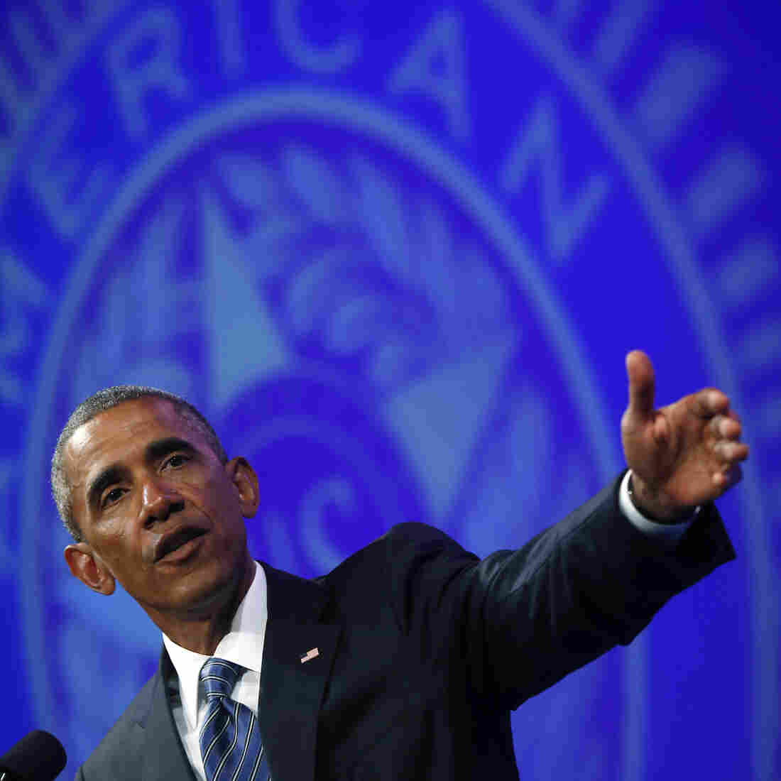 """During a speech at the American Legion's National Convention on Tuesday, President Obama again called the extremist group the Islamic State a """"cancer."""""""