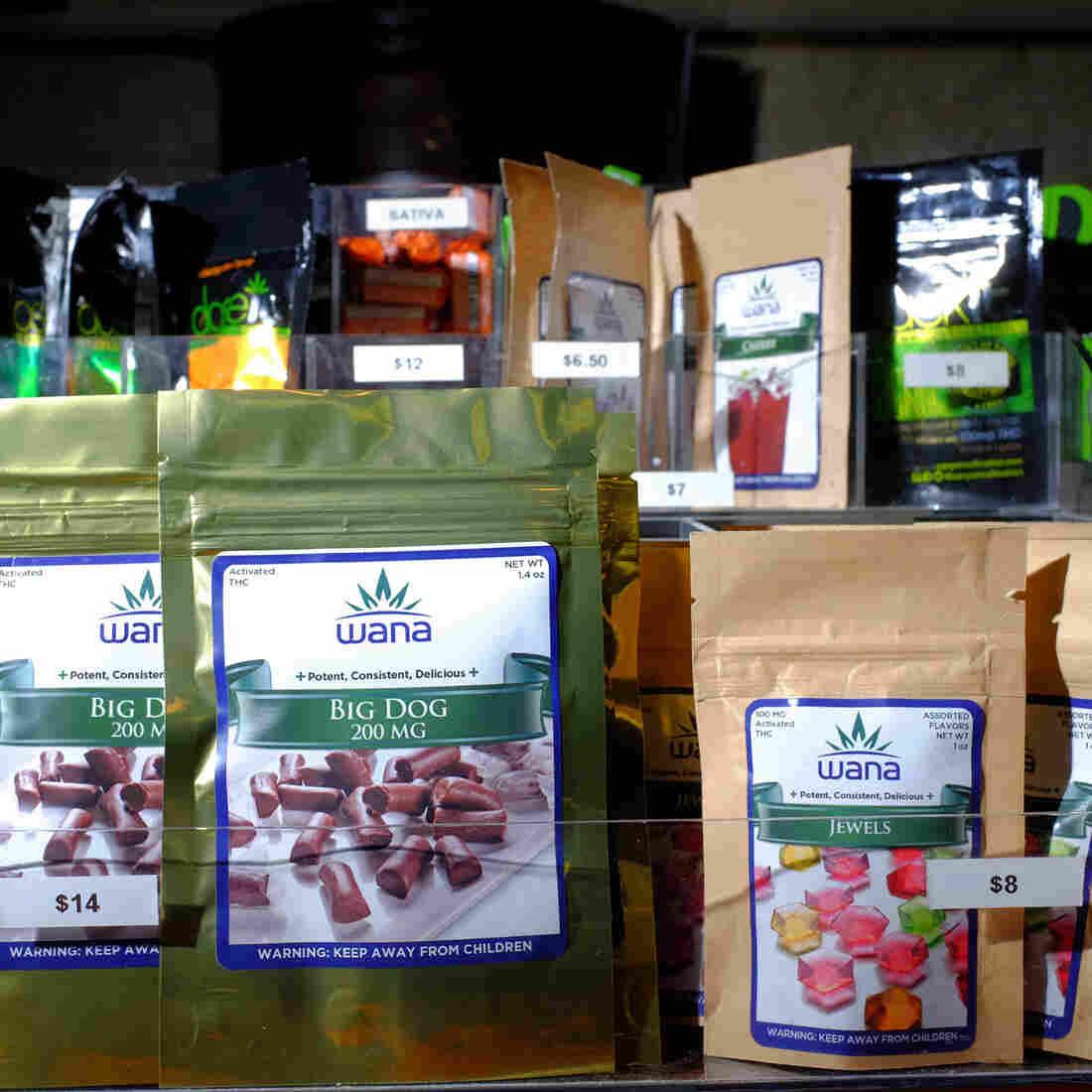 Edibles available at LoDo Wellness Center, a retail marijuana and medical marijuana dispensary and grow facility in downtown Denver.