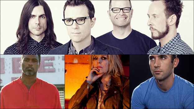 Clockwise from upper left: Weezer, Sufjan Stevens, Lia Ices, Lucinda Williams, Shabazz Palaces (Courtesy of the artists)