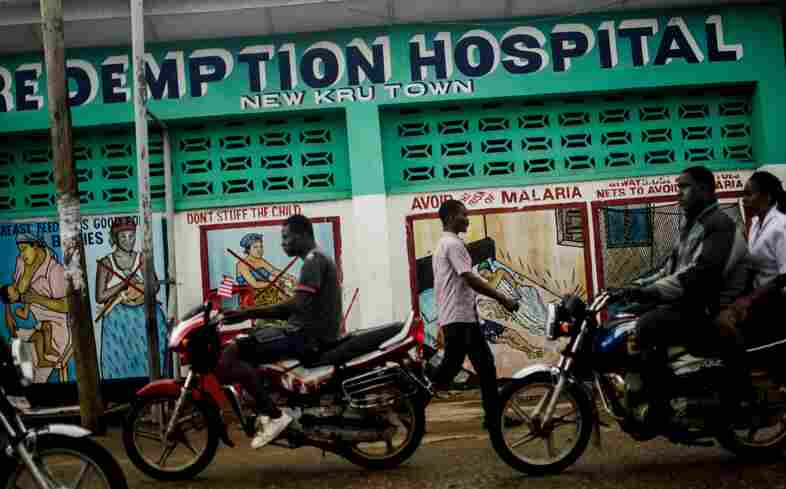Redemption Hospital, in Liberia's capital of Monrovia, offers free medical care. After several health care workers were infected with Ebola, people have been afraid to come.