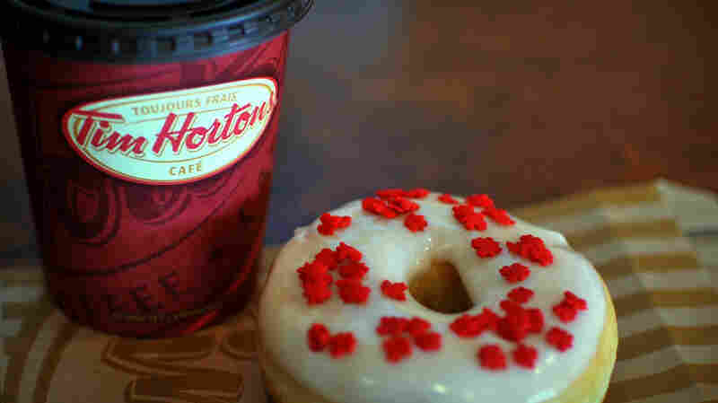 "What's on the menu at Tim Hortons? Coffee and doughnuts --"" and also sandwiches and pastries."