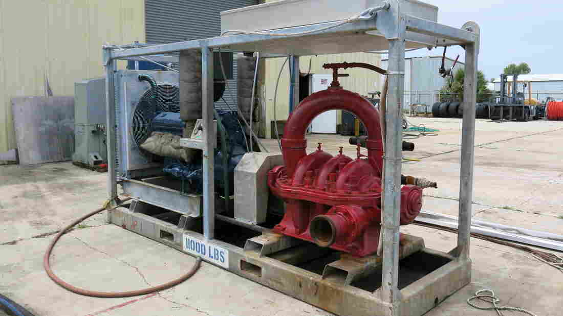 Patrick Roy's company, Coastal Rental Equipment, used to rent these large pumps to offshore divers who work for oil and natural gas drillers. After the BP oil spill, when the government introduced a moratorium on drilling in the Gulf of Mexico, the Patterson, La., business suffered losses and eventually shut down.