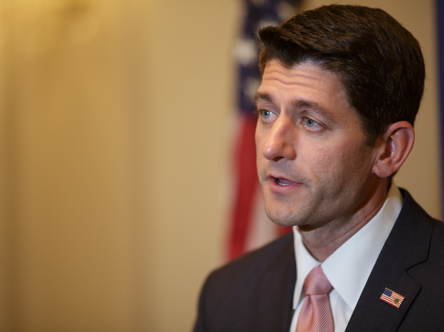 Wisconsin Republican Rep. Paul Ryan speaks during a news conference at the Union League Club of Chicago on Aug. 21.