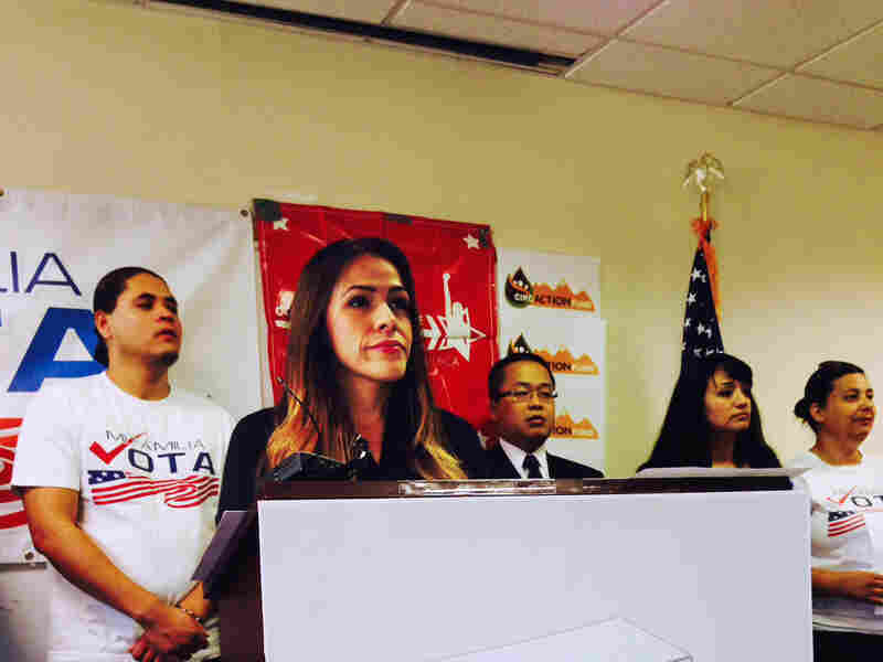 Sonia Marquez of the Colorado Immigrant Rights Coalition is encouraging Latinos to turn out for this year's midterm elections.