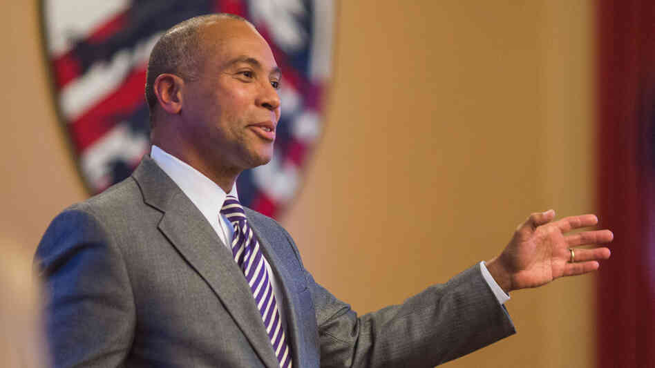 Gov. Patrick offers remarks to Harvard Democrats in Cambridge, focusing on community engagement and generational responsibility on April 28, 2014.