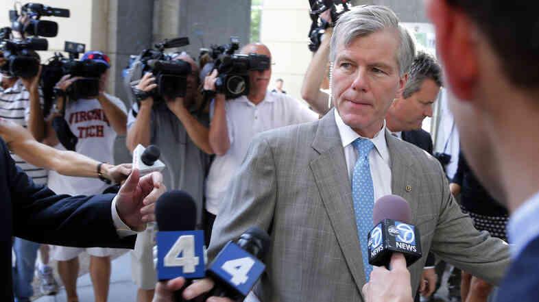 Former Virginia Gov. Bob McDonnell arrives at federal court in Richmond, Va., on Thursday.