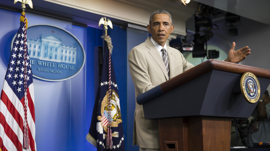 President Obama says he agrees that Congress should have buy-in on military intervention against the Islamic State.