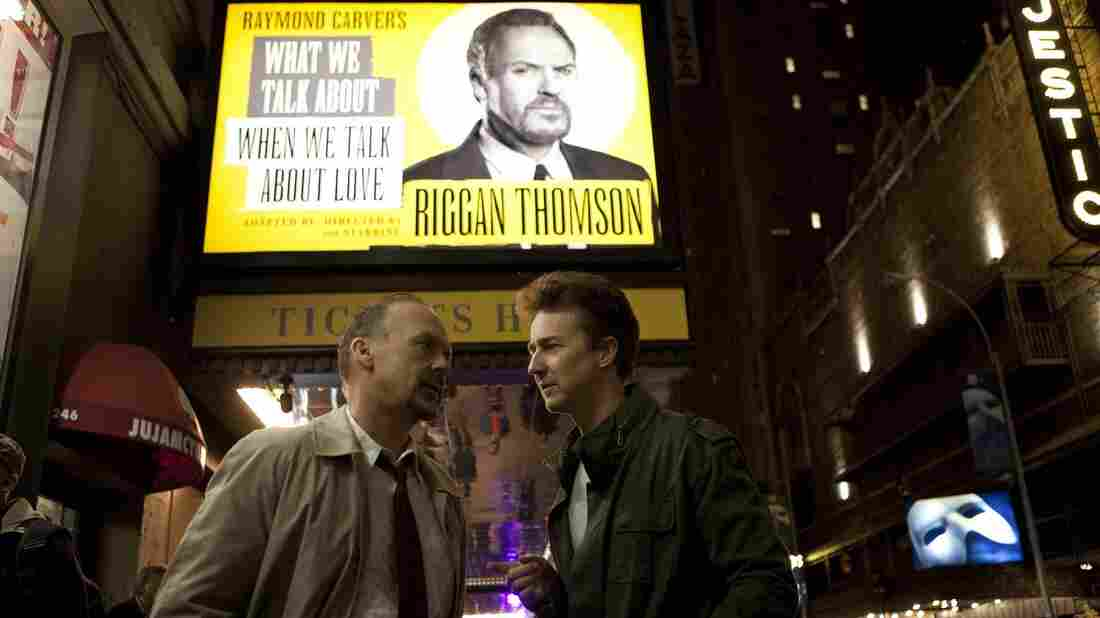 Michael Keaton stars as a washed-up film star trying to make a stage comeback in Alejandro Gonzalez Iñárritu's Birdman.