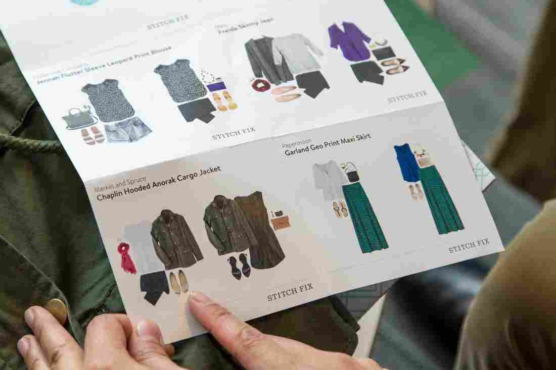 Each Stitch Fix box comes with a guide for how to wear each piece that comes with your delivery. These are the items Elise received in her first box.