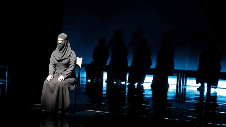 Syria: The Trojan Women inserts current events into an ancient Greek tragedy, performed here in Amman, Jordan, in 2013.