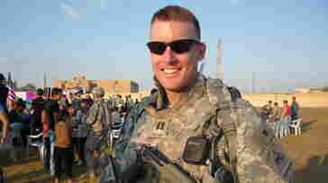 Jason Wright, seen here during his 15-month deployment to Iraq, served in the military for nine years before resigning last week.