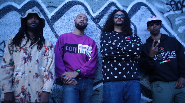 Souls of Mischief are, from left to right, A-Plus, Tajai, Opio and Phesto.