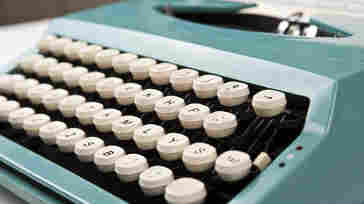 """Actor and typewriter aficionado Tom Hanks says typing on a typewriter """"is only a softer version of chiseling words into stone."""""""