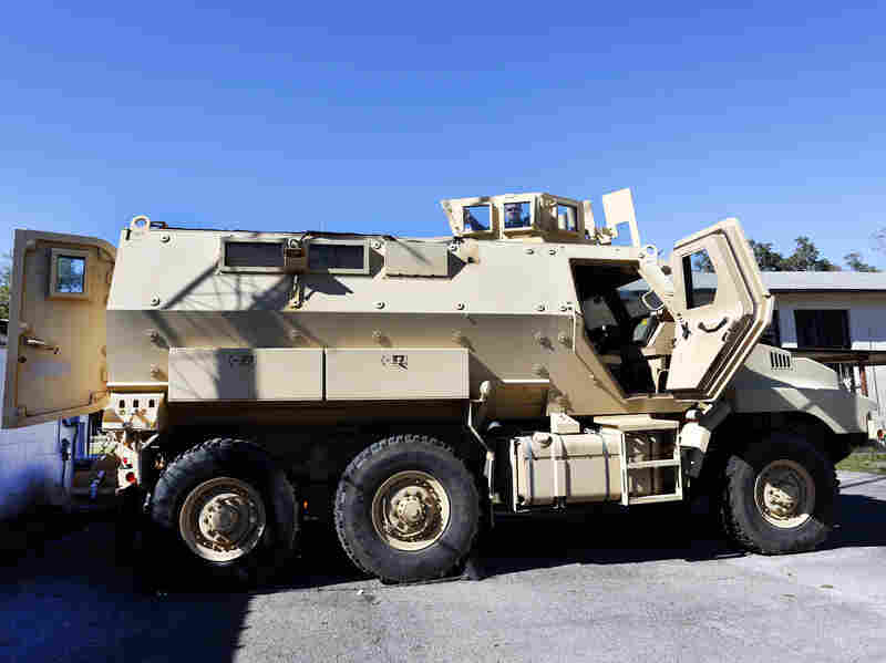 An MRAP at the High Springs Police Department in Florida.