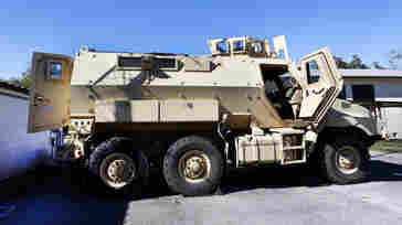 An MRAP at the High Springs Police Department in High Springs, Fla.