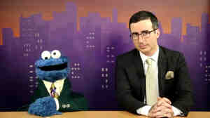 Cookie Monster and John Oliver anchor a special report on words.