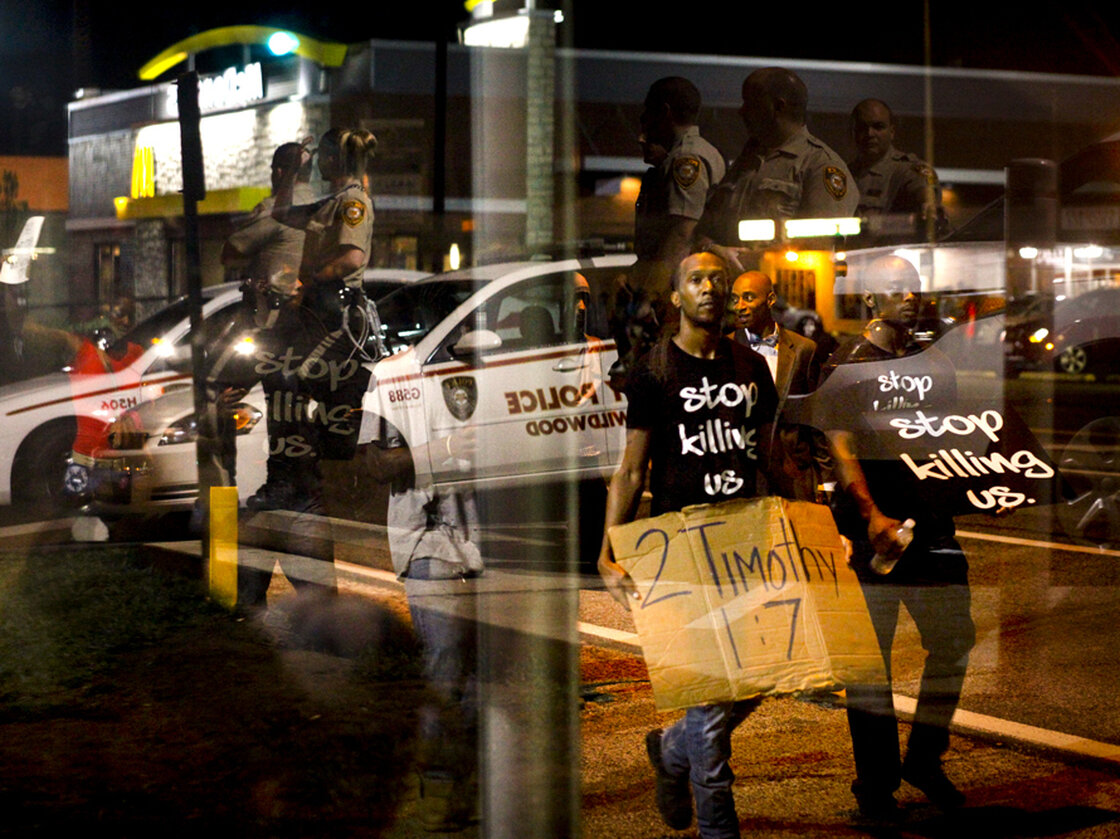 Demonstrators last month chanted on West Florissant, one of the main boulevards in Ferguson, Mo. According to a state report, nearly 9 in 10 people stopped by the police in 2013 were black.
