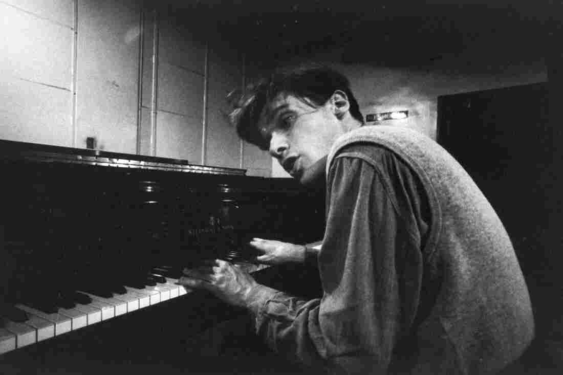 Brilliant Canadian pianist Glenn Gould as a young man, s