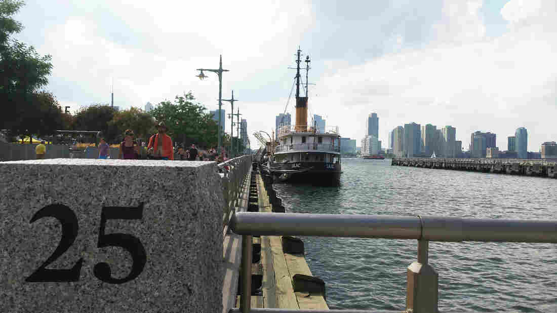The Floating Library is taking place aboard the Lilac Museum Steamship at Pier 25 on the Hudson River in New York City from Sept. 6 to Oct. 3.