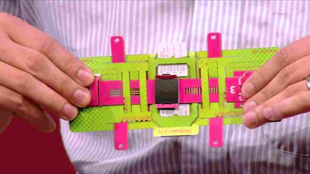 All folded up and ready to magnify: The Foldscope weighs less than two nickels, is small enough to fit in your back pocket and offers more than 2,000-fold magnification.