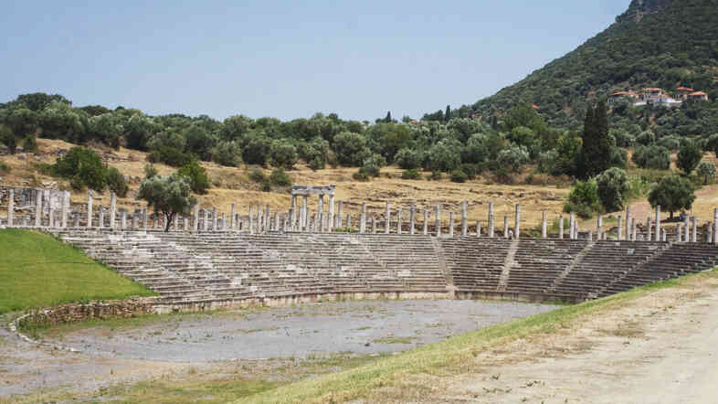 The youths of Ancient Messene once trained at this Doric stadium, which cost more than $3 million to restore. It's one of the most impressive and popular ancient sites in Greece, in part thanks to an infusion of private funds.