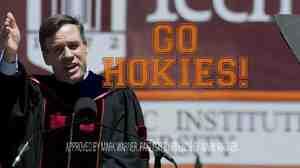 Democratic Sen. Mark Warner is running an ad during Virginia Tech's football games.