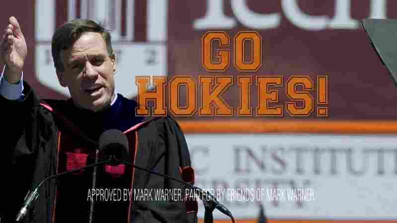 Democratic Sen. Mark Warner is running an ad during Virginia Tech's football games.