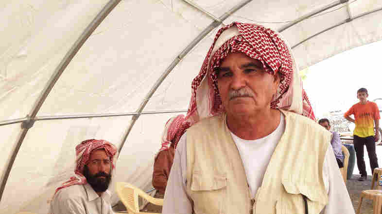 Khalil Omar Khalifa's son Naif Khalil Omar committed suicide last week. Some say it was the loss of Omar's job in a camp kitchen that was the last straw, but Khalifa says it was the brutality he witnessed in their village and elsewhere that caused something to snap in Omar's mind.