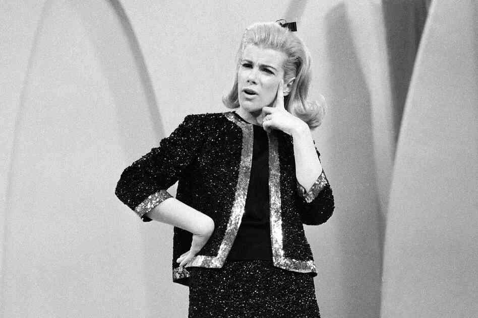 Rivers performs her stand-up comedy on The Ed Sullivan Show in 1966.