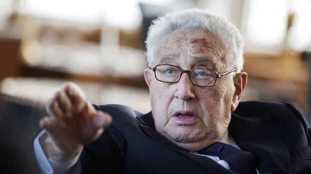 Former Secretary of State Henry Kissinger celebrates his 90th birthday, last year in Berlin. In a recent interview with Scott Simon, he gave his thoughts on ISIS, Ukraine and Iran. (AP)