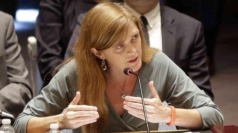 United States Ambassador to the United Nations Samantha Power.