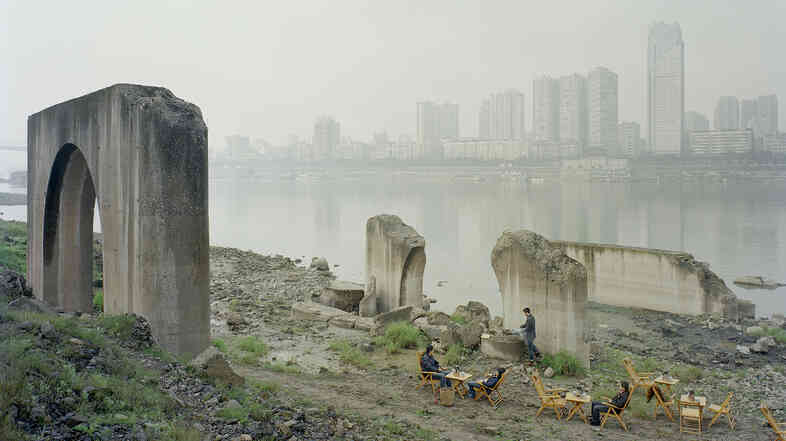 Zhang Kechun. Under the Abandoned Pier, 2013-2014. Zhang, 34, spent years shooting photos along the Yellow River.