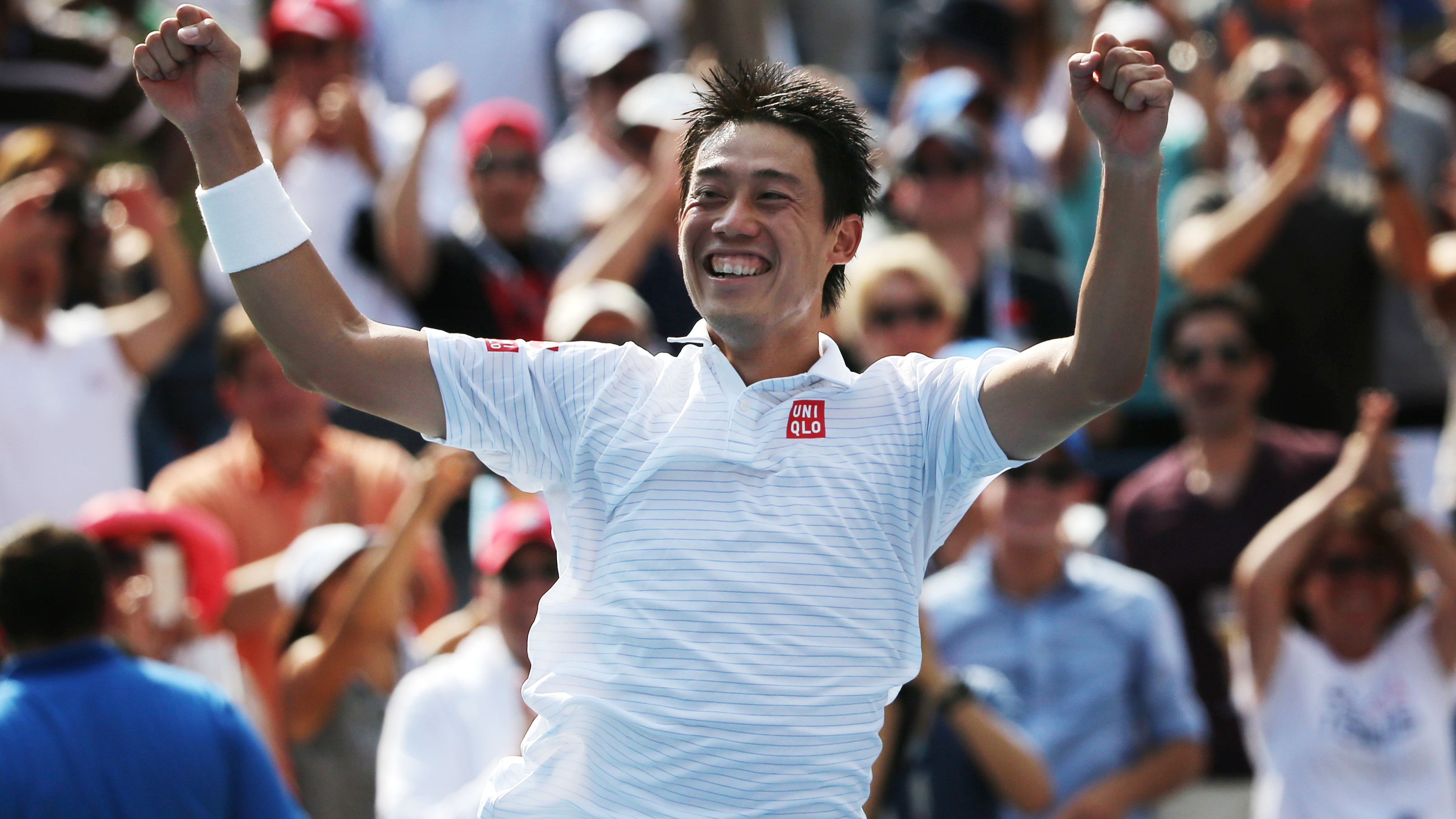 Japan's Nishikori Beats Djokovic, Making History; Federer Falls To Cilic