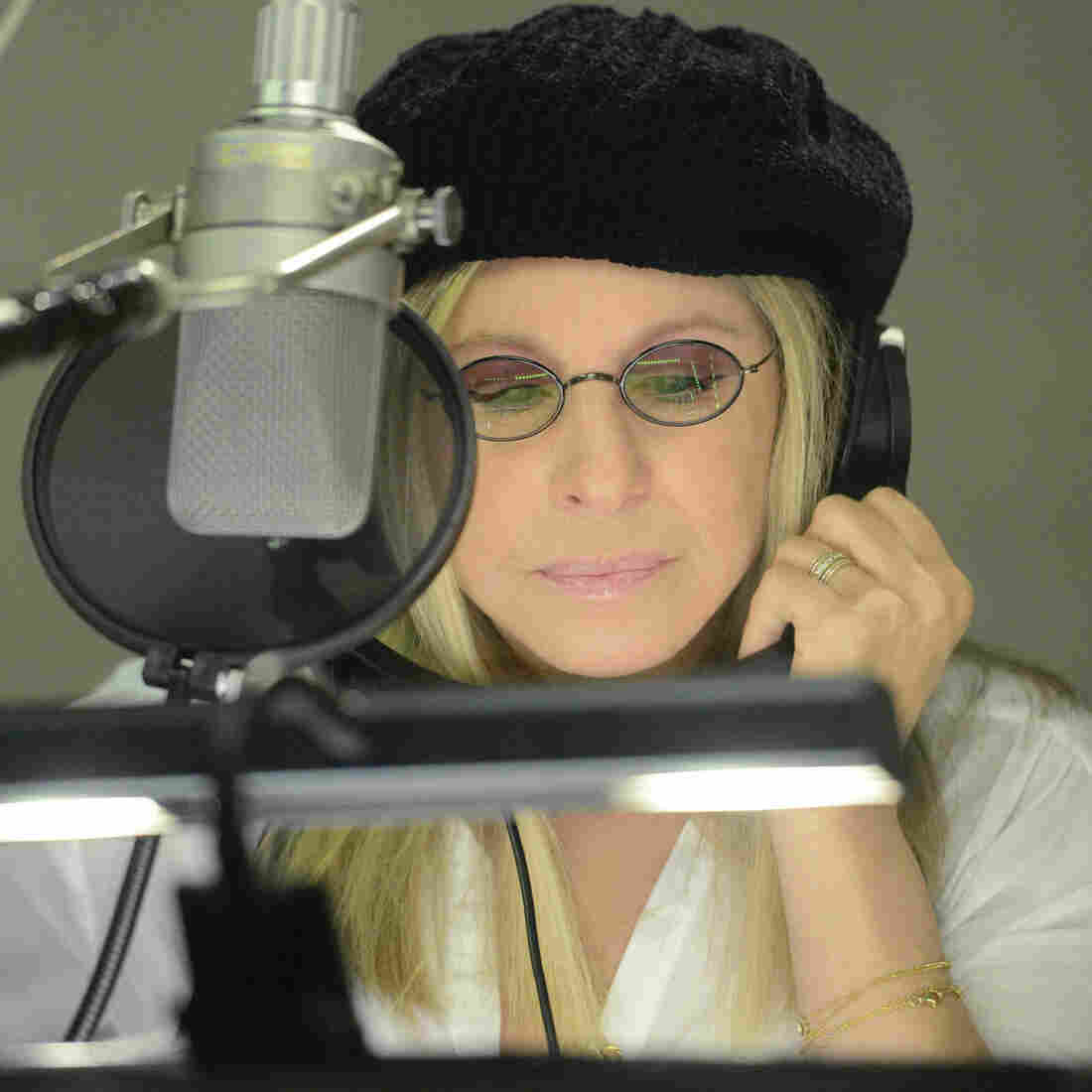 Barbra Streisand during a recording session in Burbank, Calif.