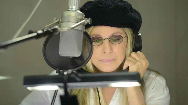 Barbra Streisand during a recording session in Burbank, Calif. (Getty Images)