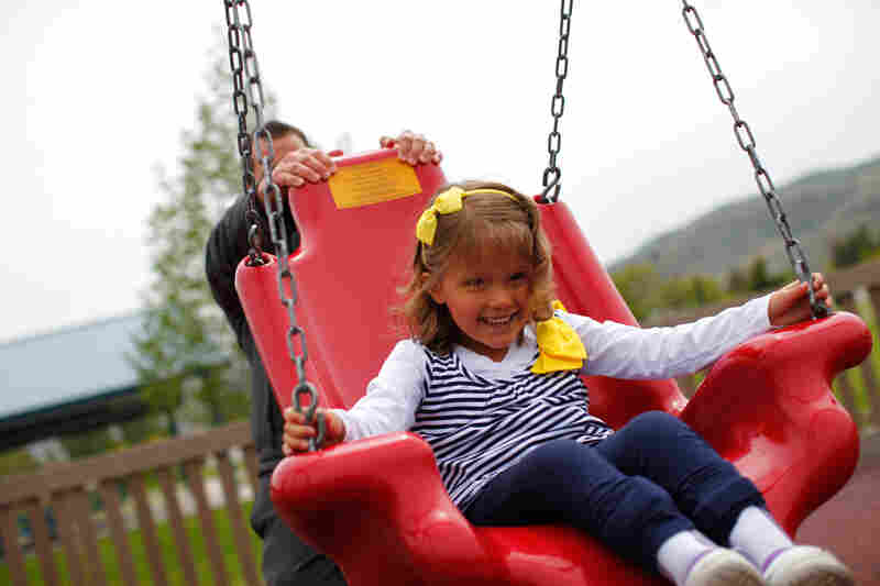 Accessible swing:There are many versions of accessible swings. Most of them provide additional back support, and they may include a safety harness. Some swings allow wheelchair users to board without leaving their wheelchairs.