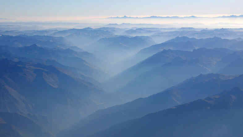 The Andes from above.