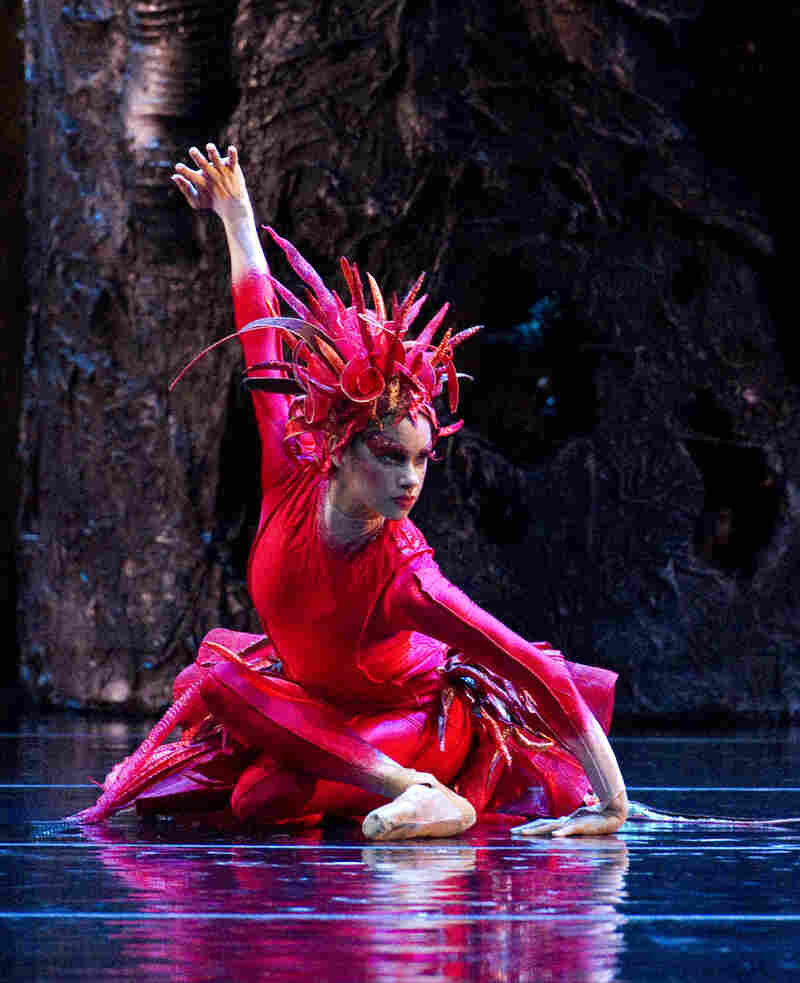 """Misty Copeland dances in the title role of The Firebird. """"It was one of the first really big principal roles I was ever given an opportunity to dance with American Ballet Theatre,"""" she says."""