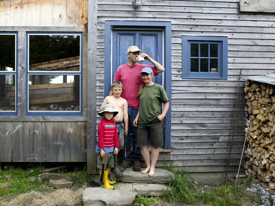 The Hewitt family at home in Vermont. (Becky Lettenberger/NPR)