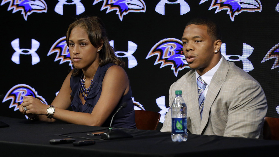 Baltimore Ravens running back Ray Rice was suspended by the NFL for two games this season after an incident in which he assaulted his then-fiancee, Janay Palmer. (Patrick Semansky/AP)
